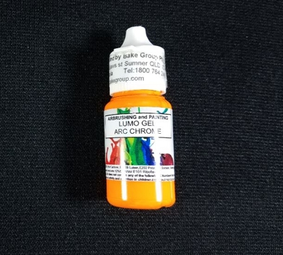 Arc Chrome Orange Lumo Gel Paint 15ml By Rolkem