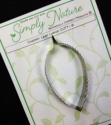 Cherry Leaf Cutter Large By Simply Nature Botanically Correct Products® (Stainless Steel)