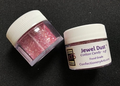 Cotton Candy Jewel Dust 4 g. By Confectionery Arts International