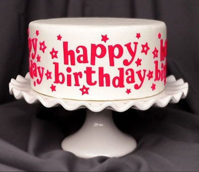 Happy Birthday Stars Silicone Onlay By Marvelous Molds