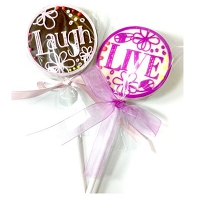Live, Love, Laugh Chocolate Disc Mat