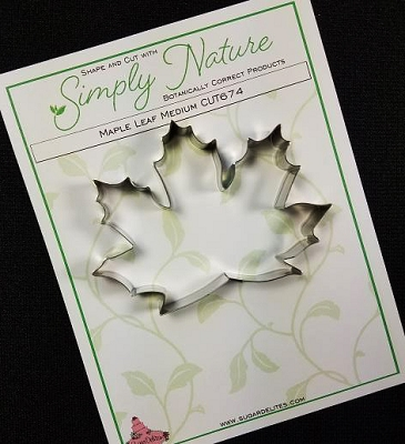 Maple Leaf Cutter Medium By Simply Nature Botanically Correct Products (Stainless Steel)