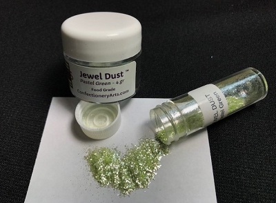 Pastel Green Jewel Dust 4 g. By Confectionery Arts International