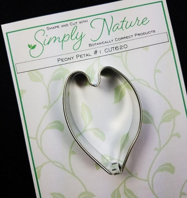 Peony Petal Cutter #1 -C  By Simply Nature Botanically Correct Products