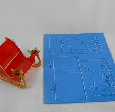 Sleigh Sculpture Kit By Simi Cakes
