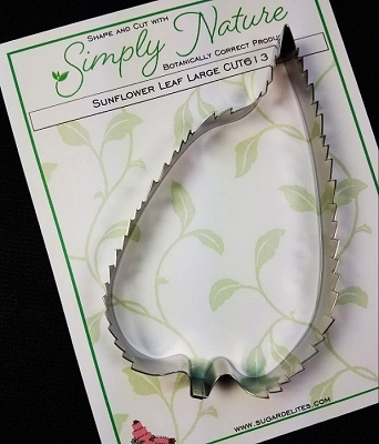 Sunflower Leaf Cutter Large By Simply Nature Botanically Correct Products® (Stainless Steel)