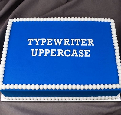 Flexabet Typewriter Uppercase Alphabet Mold By Marvelous Molds