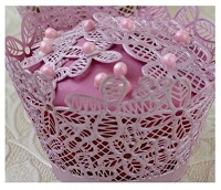 Victoriana 3D Cupcake Wrapper Sugar Dress Cake Lace Mat By Claire Bowman