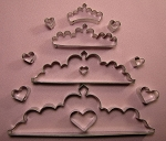 Tiara Set of 4 With Heart Cutters