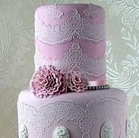 Tiffany 3D Sugar Dress Cake Lace Mat By Claire Bowman