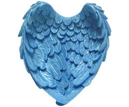 "Cupped Angel Wings measure 3 1/2"" x 3 1/4"" x 1 1/4"". By First Impressions."