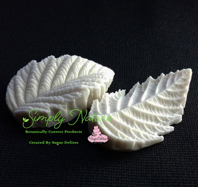"Hazel Leaf Veiner Small by Simply Nature Botanically Correct Products, was created by Jason Dontz and Jennifer Dontz of Sugar Delites, and creates the most realistic Hazel leaf interpretation possible. The Hazel leaf veiner small measures 2 1/4"" x 1 3/8"". Simply Nature brand veiners capture each ruffle, pillow & vein because they were created from the actual top and the actual bottom of each leaf or petal, thus creating the most realistic replica of nature.  Botanically correct veiners leave room for your wire and will not cut your paste and since the veiners were created by nature, they also shape and form your medium as well. Each Simply Nature Brand veiner is made in the USA and is poured using the highest quality platinum based, food approved silicone. The matching cutter(s) for this veiner(s) is CUT607."