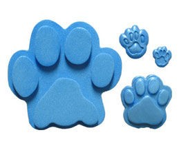 "Paw Prints measure 1/2"" x 2 1/4"" x 1/4"". By First Impressions."