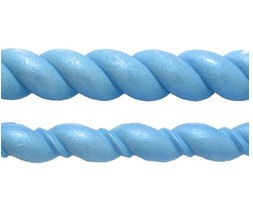 "Rope Set by First Impressions. The large Rope measures approximately 3/4"" x 11 1/2"" x 1/4"". The small Rope measures approximately  1/2"" x 11 1/2"" x 1/4""."