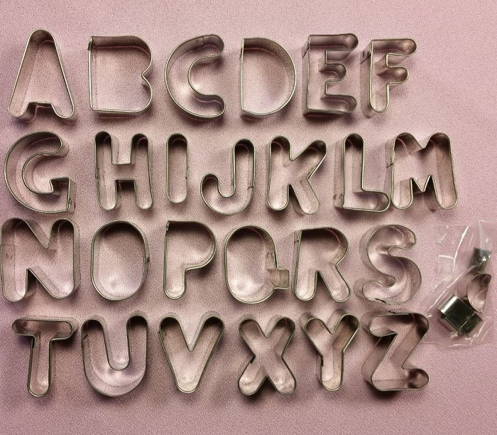 "Alphabet Upper Case Small 1 1/4"", by Fiesta, creates every letter in the alphabet. Each letter measures approximately 1 1/4"" tall."