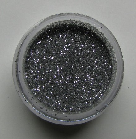 American Silver Sparkle Dust by Sugar Delites. Non-Toxic, net weight 5 grams.