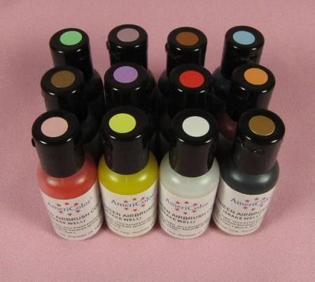 AmeriMist Airbrush Sheen Color Kit-12 Pack, .65 oz.
