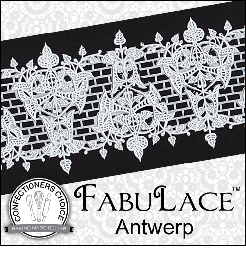 "Antwerp Lace Mat, by FabuLace, creates a beautiful lace design. This lace mat measures 15"" x 3 1/8"" and is best used with a spreadable lace product."