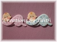 "Baby Crawling Cupcake Cutter by Edith De La Flor. The completed Baby Crawling measures 2"" x 1""."