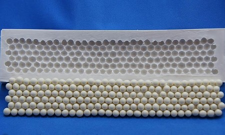 "Bead Border Mold 4, by DTC, measures 1 1/4"" x 7 1/8"" when completed."