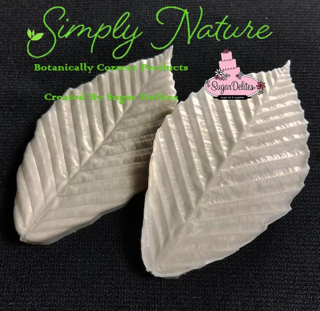 "Beech Leaf Veiner Medium by Simply Nature Botanically Correct Products, was created by Jason Dontz and Jennifer Dontz of Sugar Delites, and creates the most realistic Beech Leaf interpretation possible. The medium Beech leaf veiner measures 3 1/2"" x 1 7/8"". Simply Nature brand veiners capture each ruffle, pillow & vein because they were created from the actual top and the actual bottom of each leaf or petal, thus creating the most realistic replica of nature. Botanically correct veiners leave room for your wire and will not cut your paste and since the veiners were created by nature, they also shape and form your medium as well. Each Simply Nature Brand veiner is made in the USA and is poured using the highest quality platinum based, food approved silicone. A matching cutter(s) is not yet available for this item, but when it is, the corresponding item number will be CUT680."