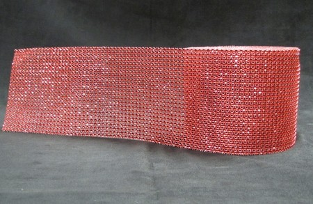 Bling - Red Rhinestone 1 Yard