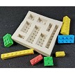 "Building Blocks, set of 8, creates 8 different sizes and shapes of building blocks. The largest block measures 2 1/2"" x 1/4"" and the smallest block measures 5/8"" x 1/4""."