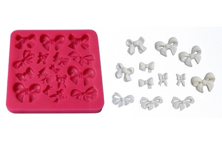 "Bow Set of 16 #2 includes 16 different Bow cavities. The Bows range in size from 3/8"" x 1/4"" to 1"" x 3/4""."