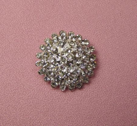 "This Brooch Bling Button is an actual button, not a silicone mold. The Brooch Bling Button measures 1"" x 1"" x 1/2"". This is ON FIRE with bling!  VERY brilliant and sparkly!"