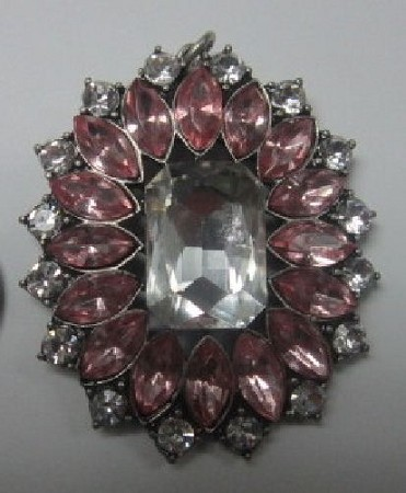 Brooch Faceted Square Jewel Pair