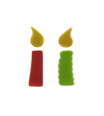 "Candle Set Small, by Jennifer Dontz, creates 2 different styles of birthday candle cutouts. Each Candle design measures approximately 2 3/4"" x 3/4""."