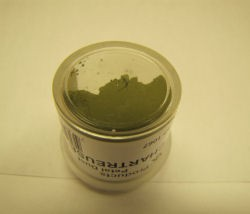 Chartreuse Olive Green Petal Dust by CK Products. 4g Net, non-toxic.