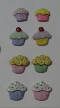 "Cupcake Mini Set of 8, by Clearview Molds, is an 8 cavity mold. Each Cupcake measures 5/8"" x 5/8"" x 1/4""."