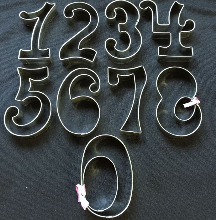 "Numbers Curly Medium, by Ximena, creates curly numbers 0-9. Each curly number measures approximately 3 1/2"" tall."