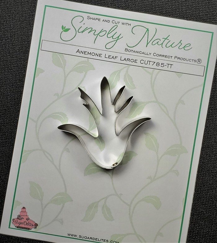 "Anemone Leaf Cutter Large By Simply Nature Botanically Correct Products®, was designed by Jason Dontz and Jennifer Dontz of Sugar Delites, and creates the most realistic anemone leaf interpretation possible. The anemone leaf cutter measures 2"" x 2 1/8"". This cutter is designed to be paired with the Simply Nature Botanically Correct Anemone Leaf Veiner Large (VEI276). When paired together, Simply Nature brand cutters and veiners will create a detailed botanically correct replication of nature."