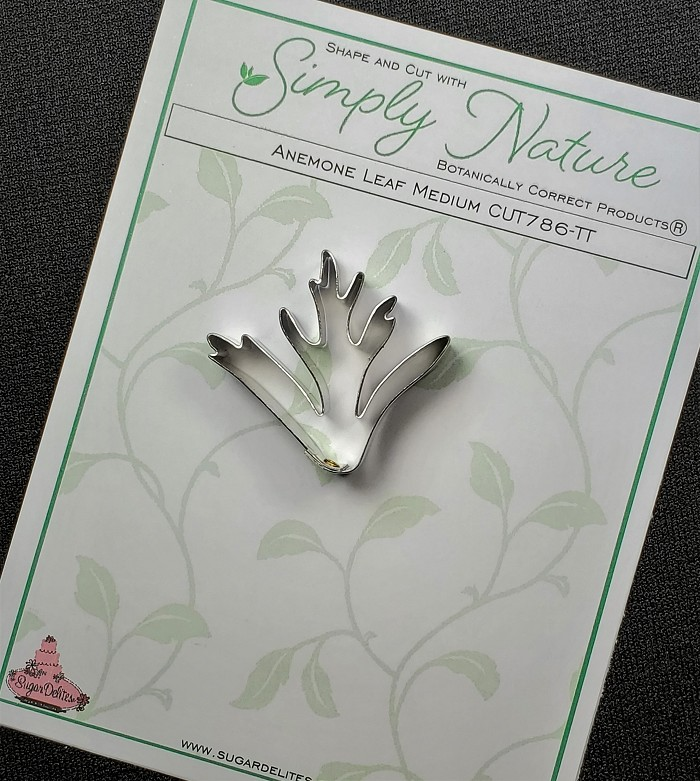 "Anemone Leaf Cutter Medium By Simply Nature Botanically Correct Products®, was designed by Jason Dontz and Jennifer Dontz of Sugar Delites, and creates the most realistic anemone leaf interpretation possible. The anemone leaf cutter measures 1 1/2"" x 1 5/8"". This cutter is designed to be paired with the Simply Nature Botanically Correct Anemone Leaf Veiner Medium (VEI277). When paired together, Simply Nature brand cutters and veiners will create a detailed botanically correct replication of nature."