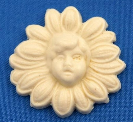 "Daisy Face Button measures approximately 1"" in diameter."