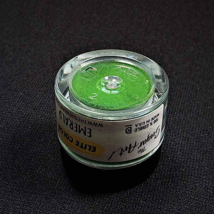 Emerald Petal Dust by TSA. 1/2 oz. net, Kosher. This is an FDA approved dust.