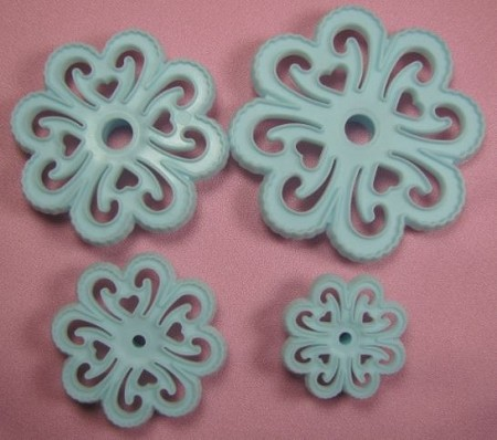 Fantasy Flower Cutter Set of 4