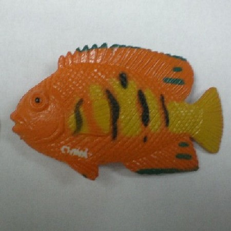 "Fish 2, by Clearview Molds, measures 2 1/4"" x 1 1/4"" x 5/16""."