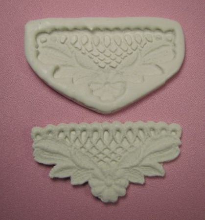 "Flower Lace Border Single measures approximately 3"" x 1 3/4""."