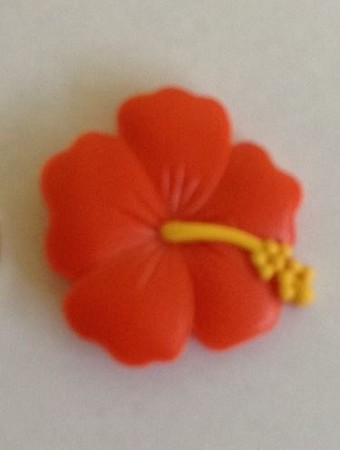 "Hibiscus Small, by ClearView Molds, measures 1 1/2"" x 1 1/2""."