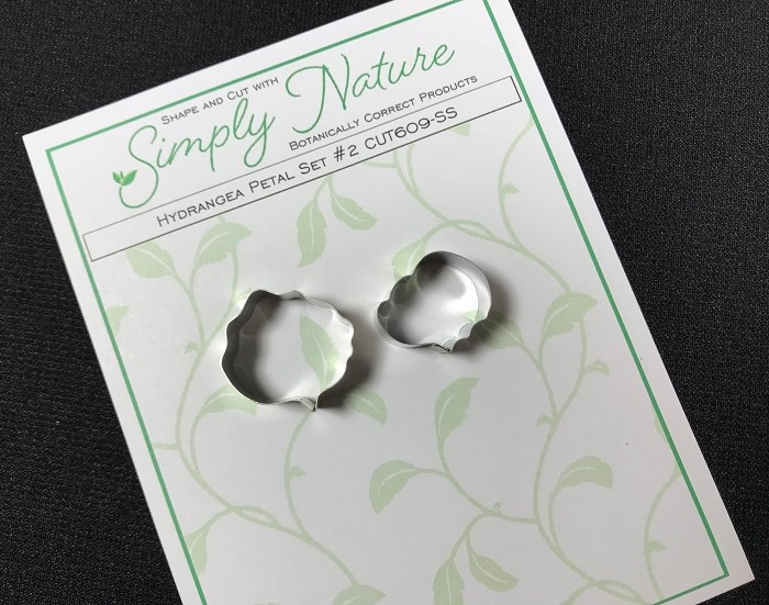 Hydrangea Petal Cutter (Design #2) Set By Simply Nature Botanically Correct Products® (Stainless Steel)