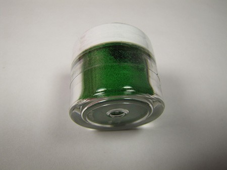 Crystal Colors Emerald Petal Dust 1/2 oz Net, non-toxic. Crystal Colors are FDA approved petal dusts.