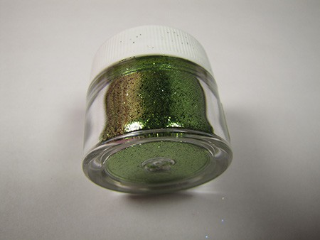 Avocado Sparkle Dust by The Sugar Art. 1/2 oz Net, non-toxic.
