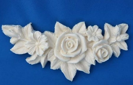 "Italian Rose Swag 1 measures 4 1/2"" x 2"". This design came directly from Italy, it's just gorgeous!"