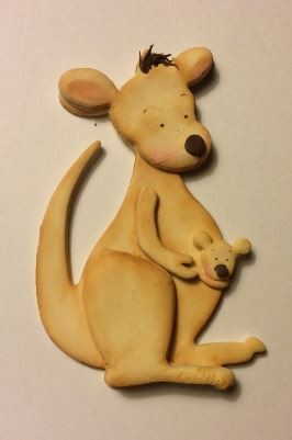 "Joey Kangaroo, by Ximenia, measures approximately 5"" x 3 3/4"" when finished."