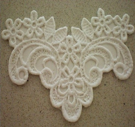 "Floral Lace Press 101 measures approximately 2 7/8"" x 4 3/4""."