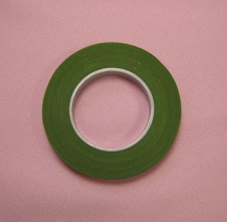 "Light Green Floral Tape, 1/2"" wide."