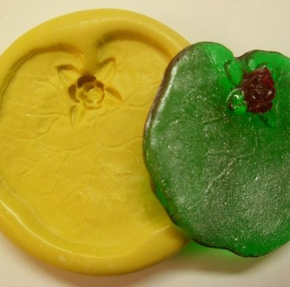 "Lily Pad, by Simi Cakes, measures 2 1/8"" x 2""."